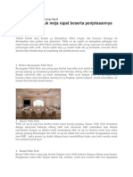 Bentuk-bentuk Meja Rapat