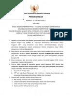 Hasil Seleksi Adm Dan Pelaksanaan SKD Wil Abn Bjb Kemenperin 2017