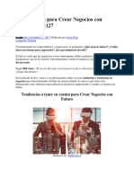 21 Industrias Para Crear Negocios Con Futuro 20171127