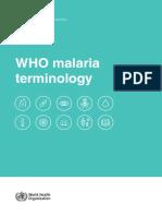 Who Malaria Terminology
