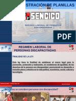 RÉGIMEN LABORAL PARA PERSONAS DISCAPACITADAS - ADMINISTRACIÓN DE PLANILLAS