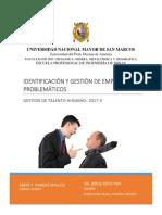 IDENTIFICACIÓN DE EMPLEADOS PROBLEMÁTICOS