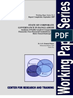 Working Paper 2 2007 on Corpoate Governance