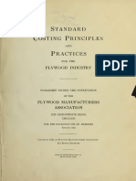 Standard Costing Principle and Practice for Plywood Industry