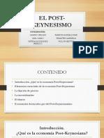 Diapositivas El Post- Keynesianismo