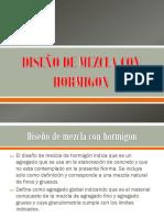 Diseño de Mezcla Con Hormigon