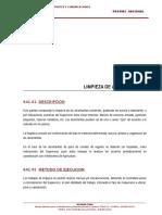 641.00 Limpieza de Alcantarillas(for)