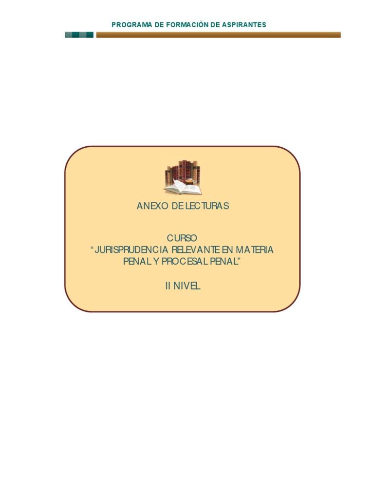 ANEXO LECTURAS. de Jurisprudencia Vinculante
