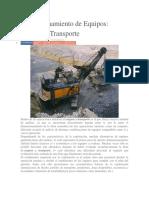 Dimensionamiento de Equipos de Transporte