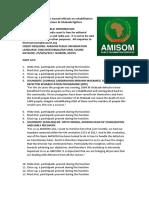 AMISOM trains Somali officials on rehabilitation and reintegration of former Al-Shabaab fighters