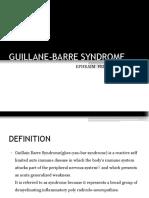 Guillane Barre Syndrome