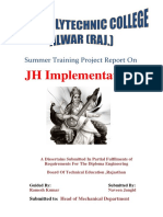 Study of JH Implementation Ready