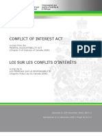 English_Public Office Holders_Conflict of Interest Act_Conflict of Interest Act