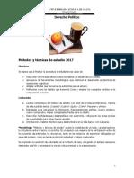 Técnicas de Estudio Derecho Politico 2017