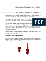 Stop Check Valves-Its features,Installation and Design