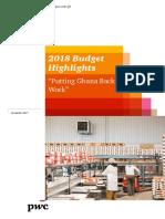 PwC_2018 Budget Highlights