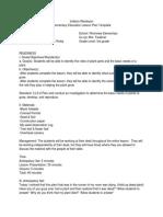science lesson plan for e-unit