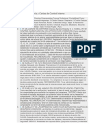 Hallazgos de Auditoría y Cartas de Control Interno
