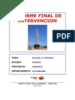 Informe Final Workover PLM-C7