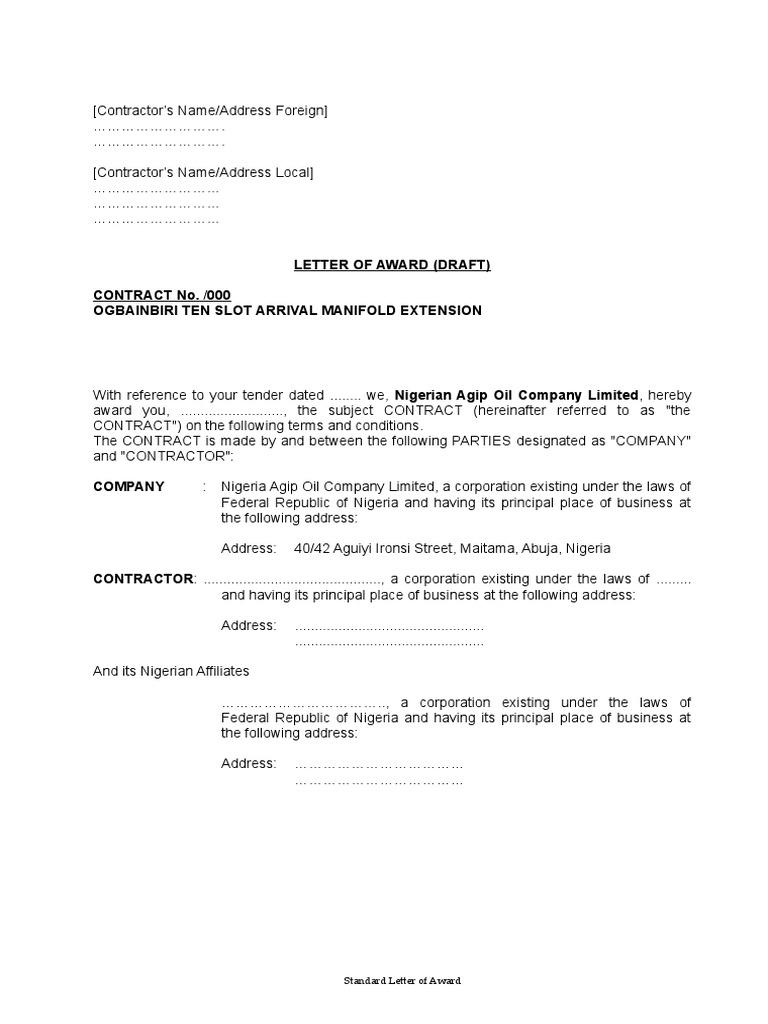 Award Letter Sample from imgv2-1-f.scribdassets.com