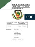 Características Motores Diesel