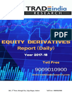Daily Derivative Prediction Report for - 28-11-2017 by TradeIndia Research