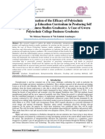 An Examination of the Efficacy of Polytechnic Entrepreneurship Education Curriculum in Producing Self Employing Business Studies Graduates