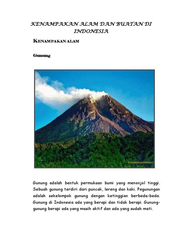Kenampakan Alam Dan Buatan Di Indonesia
