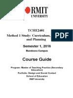 2016 TCHE2401 Method1StudyCourseGuide