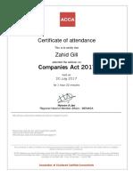 Certificate CA2017