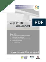 Excel 2010 Advanced Training Manual
