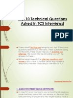 Top 10 Technical Questions Asked in TCS Interviews