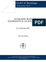 Interviews With Mathematical Sociology