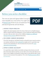 Before You Arrive Checklist _ NSOI