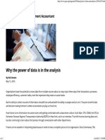 Why the Power of Data is in the Analysis