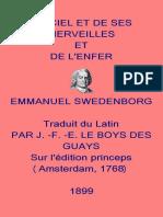 Du Ciel Et de Ses Merveilles - Swedenborg