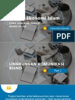 Part 1 Lingkungan Komunikasi Bisnis