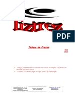 Tabela Preços - Liztrez 2010