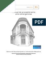 Manual de Procedimeiento Ante Emergencia