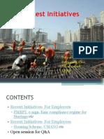 EPFO- Latest Initiatives