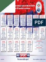 Calendario Serie a 2017 2018