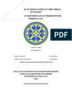 Summary of Externalities in the Urban Economy