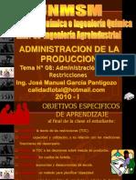 Administración de Las Restricciones