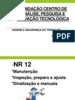 Higiene e Segurança No Trabalho - NR 12