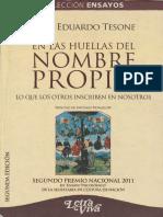 En Las Huellas Del Nombre Propio [Juan Eduardo Tesone]