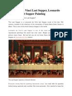 Leonardo Da Vinci Last Supper, Leonardo Da Vinci Last Supper Painting