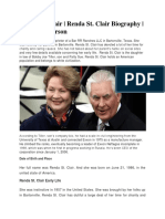 Renda St. Clair | Renda St. Clair Biography | Charles Tillerson