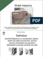 Confined Masonry Training Pakistan