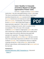 Improving Power Quality in Cascade Multilevel Converters Based on Single