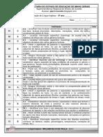 Avaliação Diagnóstica 8º Ano 2ª Opção